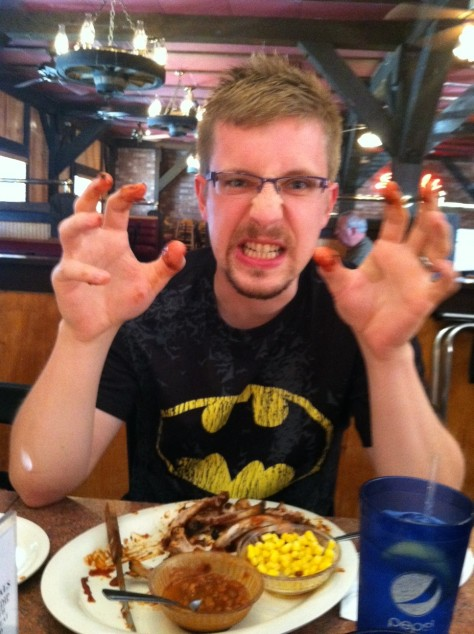 That's my eating ribs face.